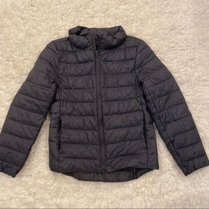Old Navy dark gray puffer coat